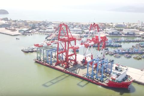 Cảng Quy Nhơn vận hành thử nghiệm hệ thống cẩu trục trị giá 200 tỷ đồng