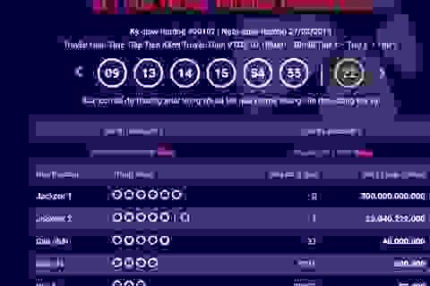 Thêm một tấm vé số trúng giải Jackpot 2 trị giá hơn 25 tỷ đồng