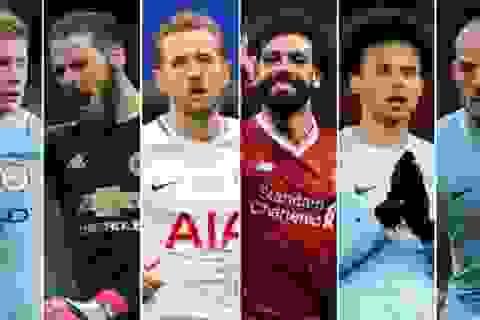 Đề cử giải Cầu thủ xuất sắc nhất Premier League: Man City áp đảo