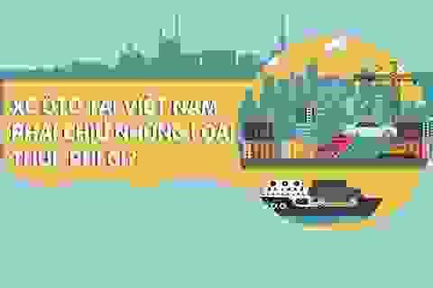 Infographic: Ô tô tại Việt Nam phải gánh những loại thuế phí gì?