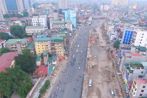 """Hà Nội khởi công cầu cạn chạy dọc """"đường cong mềm mại"""""""