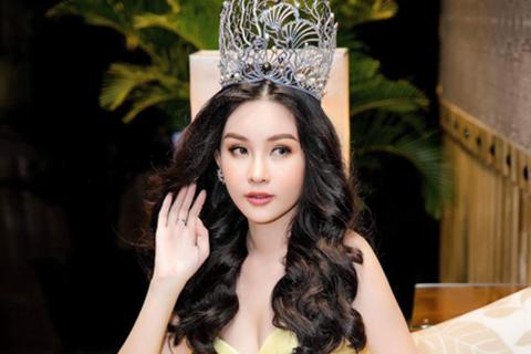 Lê Âu Ngân Anh lần đầu xuất hiện với vương miện Hoa hậu sau 5 tháng đăng quang