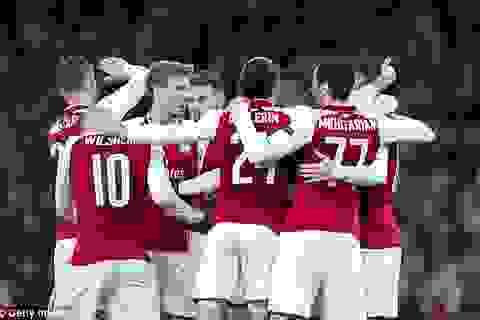 Thắng tưng bừng, Arsenal đặt một chân vào bán kết Europa League