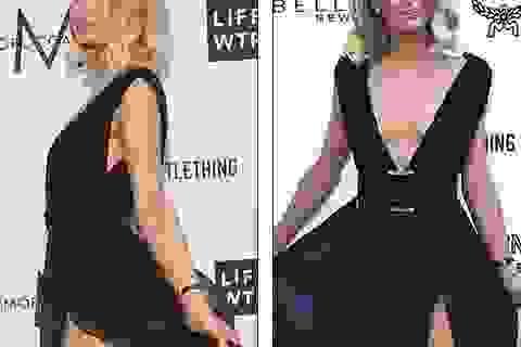 Paris Hilton gặp sự cố vì vén váy quá cao