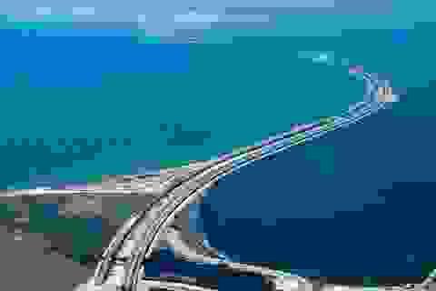 Nhìn lại 27 tháng Nga xây cầu dài nhất châu Âu nối liền Crimea
