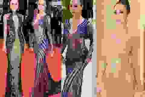 """Vũ Ngọc Anh gây tranh cãi với loạt váy """"mặc như không"""" tại LHP Cannes"""