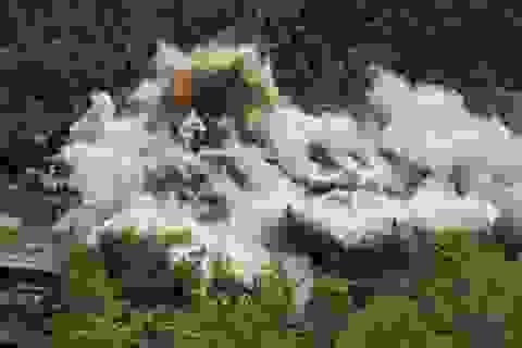 Khu thử hạt nhân Triều Tiên thành đống đổ nát sau hàng loạt vụ nổ