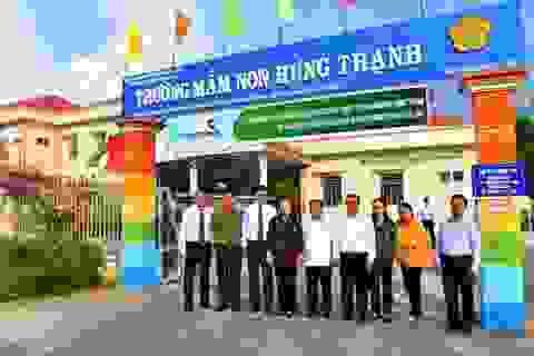 Lễ bàn giao Trường mầm non Hưng Thạnh do Vietcombank tài trợ 5 tỷ đồng