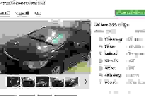 Mẫu ô tô Honda cũ số tự động này đang rao bán tầm giá 300 triệu đồng tại Việt Nam