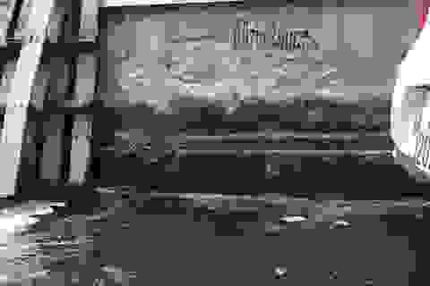"""Giữa thủ đô, khu dân cư ngập trong nước thải sau mỗi trận mưa: """"Điệp khúc"""" chờ và đợi!"""