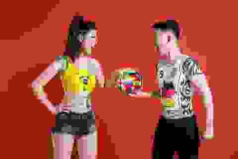 MC Thu Hằng lột xác với Body painting: Khát vọng bá vương của Brazil tại World Cup