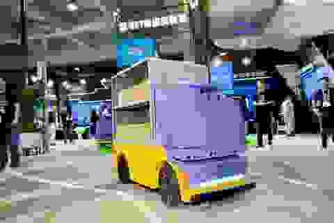Robot giao hàng tự động của Alibaba
