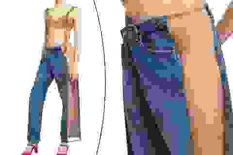 """""""Nhướn mày"""" vì mốt thời trang jeans """"thoáng mát"""" ngày hè"""