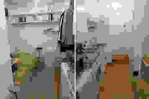 Căn hộ tí hon có giường cạnh kệ bếp cho thuê giá 34 triệu đồng/tháng