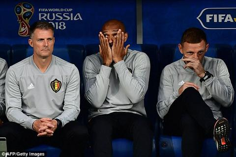 Thierry Henry buồn bã trong ngày Bỉ gục ngã trước Pháp