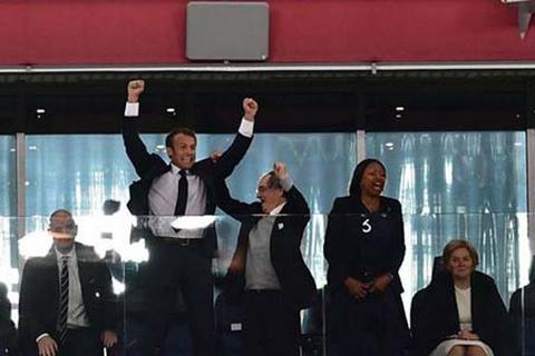 Tổng thống Pháp phấn khích khi đội nhà vào chung kết World Cup 2018