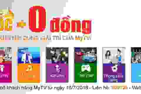 """Truyền hình MyTV tăng kênh """"khủng"""", miễn phí kho VoD hấp dẫn"""