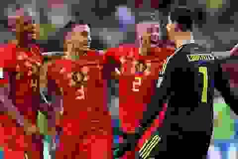 Đội tuyển Bỉ diễu hành ăn mừng như giành chức vô địch World Cup