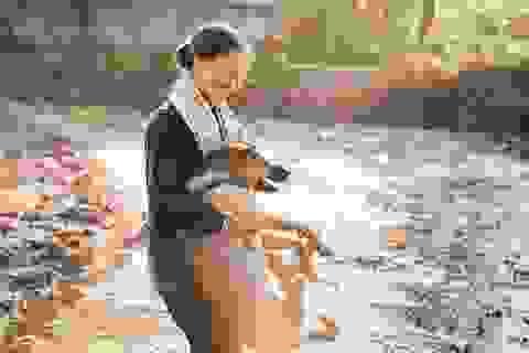 Nụ cười của người mẹ nông dân qua góc máy nhiếp ảnh trẻ