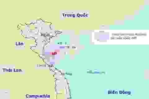 Vùng áp thấp trên Biển Đông đang hướng vào Thanh Hóa - Hà Tĩnh