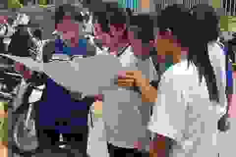 Cụm thi tại Nghệ An: Hơn 140 bài thi bị điểm liệt