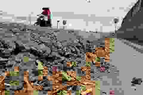 Quốc lộ 1A hằn lún, nứt nẻ và lồi lõm