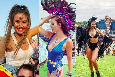 Vẻ đẹp nóng bỏng của các cô gái trong lễ hội nhạc điện tử lớn nhất thế giới