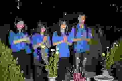 Gần 1.000 Đoàn viên, thanh niên Thủ đô thắp nến tri ân các anh hùng liệt sĩ