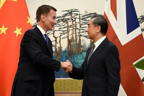 Sự cố lỡ lời của tân Ngoại trưởng Anh trong màn ra mắt tại Trung Quốc