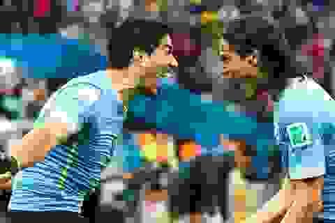 Luis Suarez lo không được đá cặp với Cavani trong trận gặp Pháp