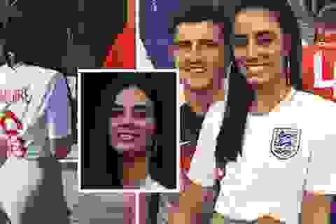 Bạn gái xinh đẹp của Maguire sung sướng sau trận thắng Thụy Điển