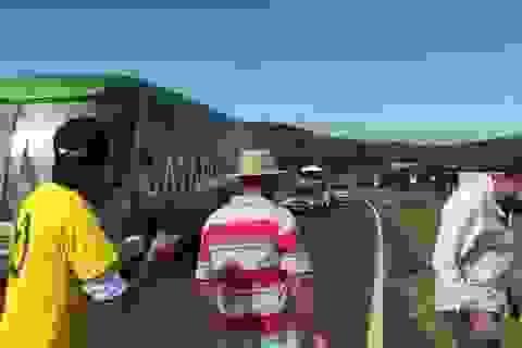 Xe bus chở tuyển Brazil bị tấn công bằng gạch đá, trứng thối khi về nước
