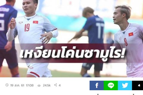 Báo Thái Lan thừa nhận Olympic Việt Nam đáng sợ
