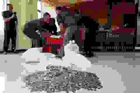 Quan chức Indonesia mang gần 1 tấn tiền xu đến tòa bồi thường vợ cũ
