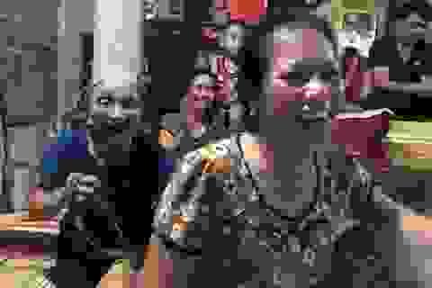 Quê nhà vỡ òa hạnh phúc khi Olympic Việt Nam giành chiến thắng