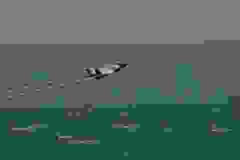 """Màn trình diễn ấn tượng của """"tia chớp"""" F-35 tại triển lãm hàng không"""