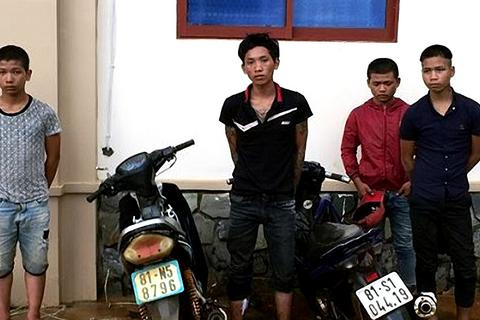 Bắt nhóm thiếu niên trộm 4 xe máy chỉ trong 1 giờ đồng hồ