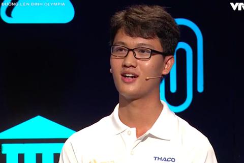 Nam sinh điển trai trường Phan Đình Phùng chiến thắng cuộc thi tuần Olympia