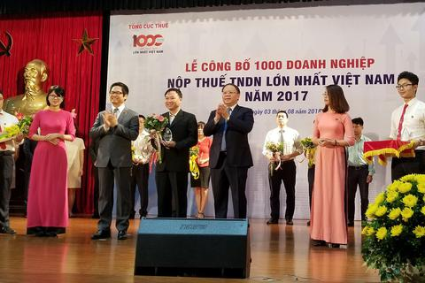 FrieslandCampina Việt Nam có mặt trong Top 100 Doanh nghiệp xuất sắc đóng góp ngân sách nhà nước