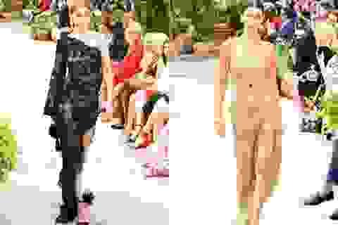 Chị em Hadid nổi bật trong show thời trang