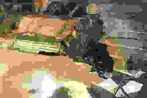 Sạt trượt mái đào hạ lưu đập thủy điện Trung Sơn