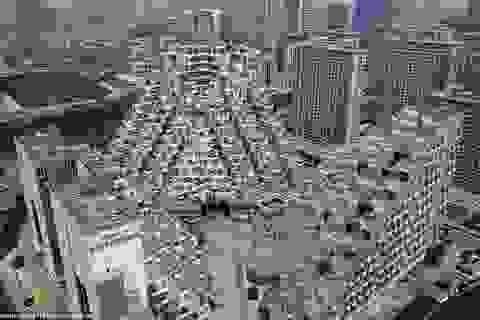 Tòa chung cư thu hút sự chú ý với hình thù kim tự tháp kỳ lạ