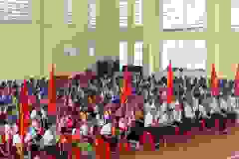 Ngôi trường duy nhất ở Nghệ An khai giảng muộn do mưa lũ