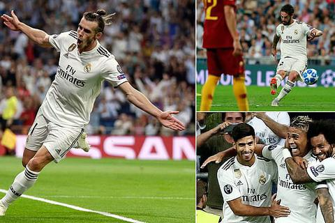 Real Madrid 3-0 AS Roma: Bale, Isco lập công