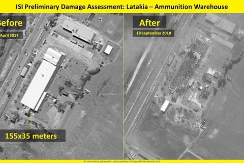Israel công bố ảnh san phẳng kho vũ khí Syria giữa lùm xùm máy bay Nga bị bắn nhầm