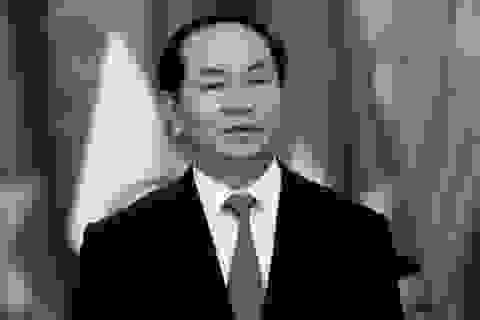 Chủ tịch Trung Quốc gửi điện chia buồn việc Chủ tịch nước Trần Đại Quang từ trần