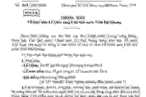 Lễ viếng Chủ tịch nước Trần Đại Quang tại TPHCM bắt đầu từ 7h ngày 26/9