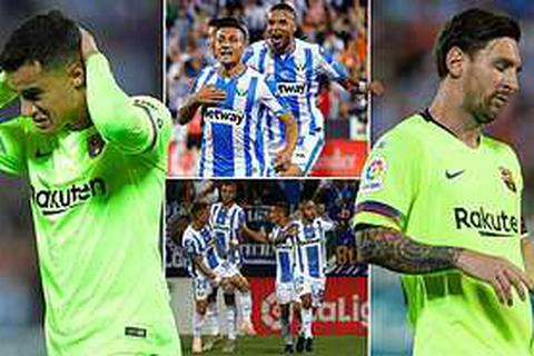 Leganes 2-1 Barcelona: Cú ngược dòng ngoạn mục