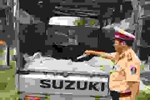 Bắt xe tải vận chuyển gần 500 kg da trâu