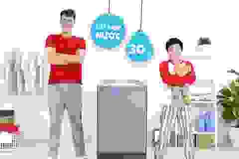 Mẹo tiết kiệm nước khi giặt máy trong mùa mưa